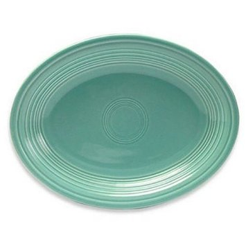 """Oval Platter, 11.5"""" Turquoise"""