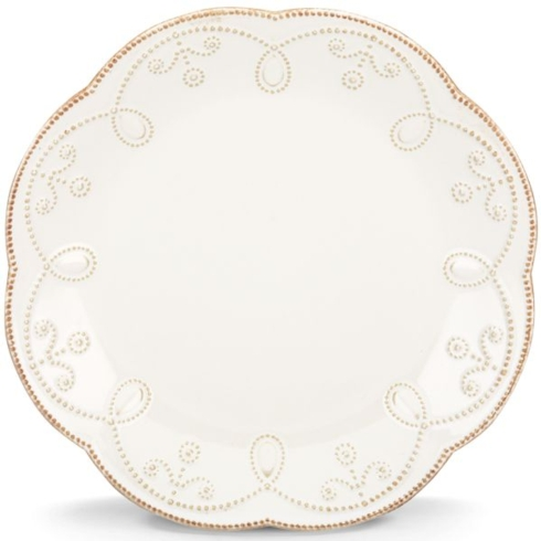 French Perle White Accent Plate