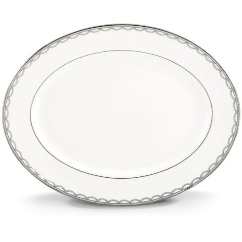 Iced Pirouette Oval Platter