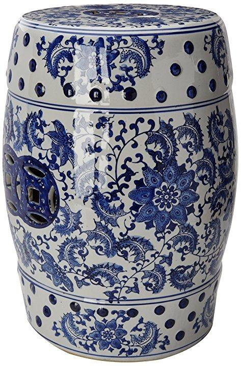 Blue and White Garden Stool collection with 1 products