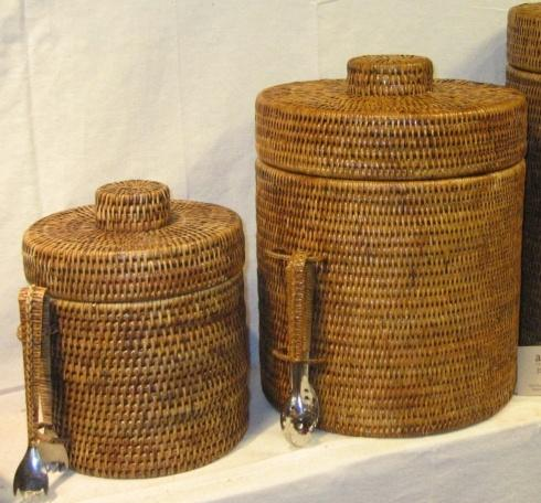 Vieuxtemps Exclusives   Medium Rattan Ice Bucket $156.00