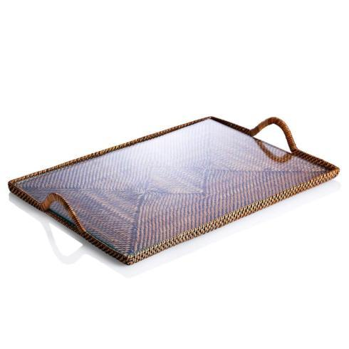 Vieuxtemps Exclusives   Medium Rattan Tray $105.00