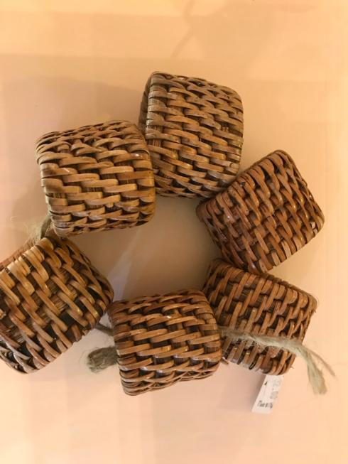 Vieuxtemps Exclusives   Woven Napkin Rings Set of 6 $32.00