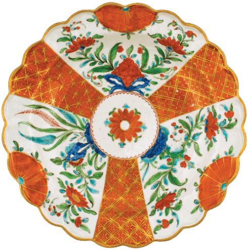 Orange Floral Caspari Placemat Set of 4 collection with 1 products