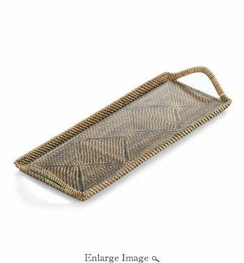 Vieuxtemps Exclusives   Small Rattan Tray $98.00