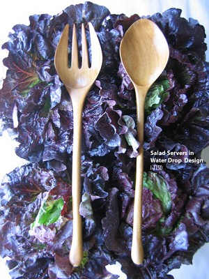 Vieuxtemps Exclusives   Water Drop Salad servers $42.00