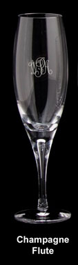 Aspen Champagne Flute WITH MONOGRAM