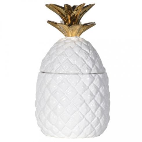 Vieuxtemps Exclusives   Gold Top Pineapple Jar $52.00