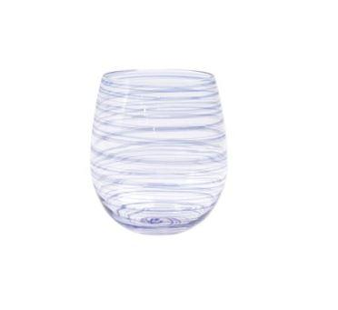 $51.00 Blue Stemless Wine Glass
