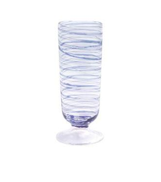 $65.00 Blue Champagne Glass