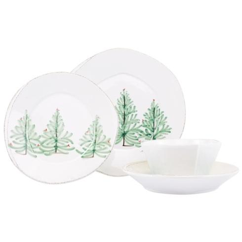 VIETRI Lastra Holiday Four-Piece Place Setting $164.00