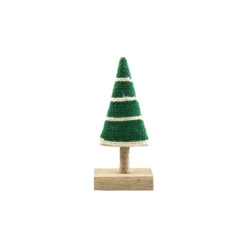 $19.00 Dark Green with Stripes Extra-Small Tree