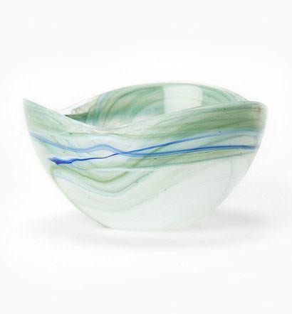Vietri Alabaster Glass Aquamarine Cereal Bowl $28.00