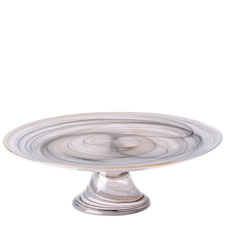 VIETRI  Taupe Footed Cake Stand $50.00