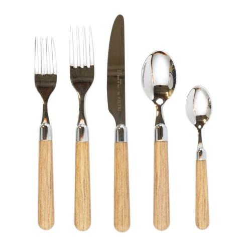$73.00 Oak Five-Piece Place Setting