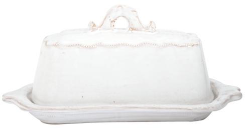 Vietri Bellezza White Butter Dish $69.00