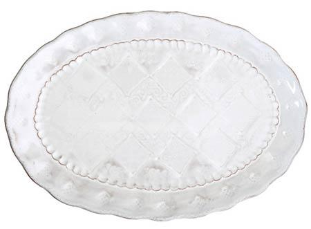 Vietri Bellezza White Medium Oval Platter $98.00