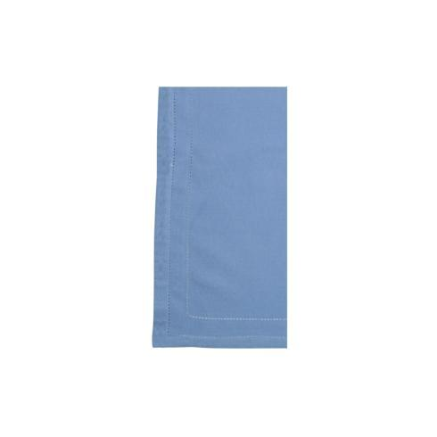 VIETRI Cotone Linens Cornflower Blue Napkins with Double Stitching - Set of 4 $40.00