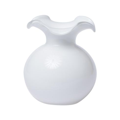 VIETRI  Hibiscus Glass White Small Fluted Vase $80.00