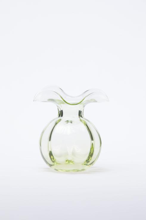 VIETRI  Hibiscus Glass Green Bud Vase $54.00