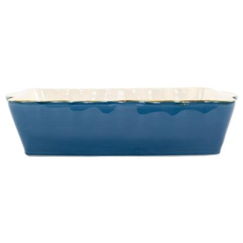 VIETRI  Italian Bakers Blue Large Rectangular Baker $45.00