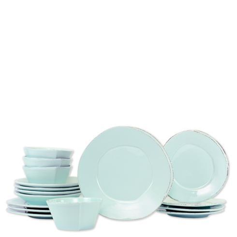$524.00 Lastra Aqua Sixteen-Piece Place Setting