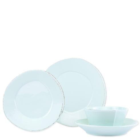 $146.00 Lastra Aqua Four-Piece Place Setting