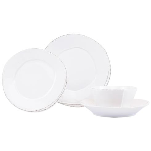 $146.00 White Four-Piece Place Setting