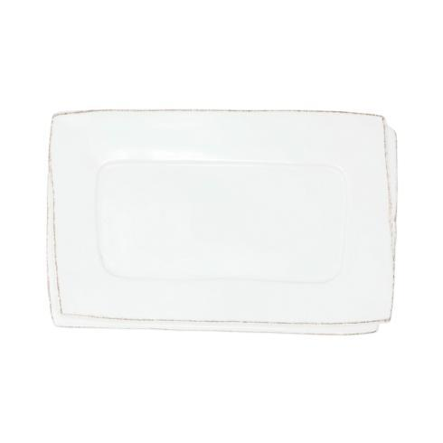 VIETRI Lastra White Small Rectangular Tray $45.00