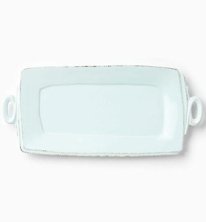 Vietri Lastra Aqua Handled Rectangular Platter $136.00