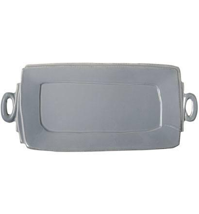 Vietri Lastra Gray Handled Rectangular Platter $140.00