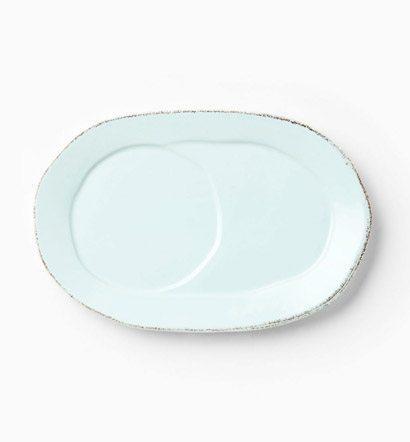 Vietri Lastra Aqua Oval Tray $34.00