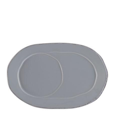 VIETRI Lastra Gray Oval Tray $35.00