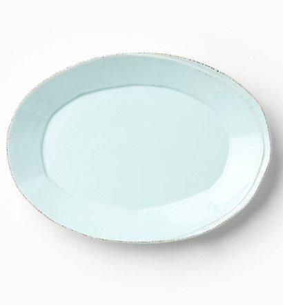 Vietri Lastra Aqua Small Oval Platter $56.00