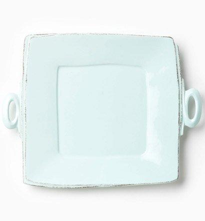 Vietri Lastra Aqua Handled Square Platter $134.00