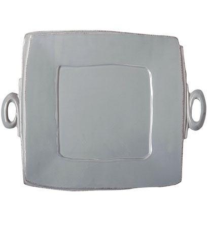 Vietri Lastra Gray Handled Square Platter $134.00