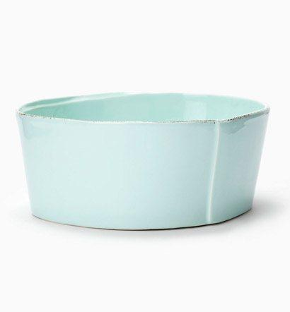 $68.00 Lastra Aqua Medium Serving Bowl