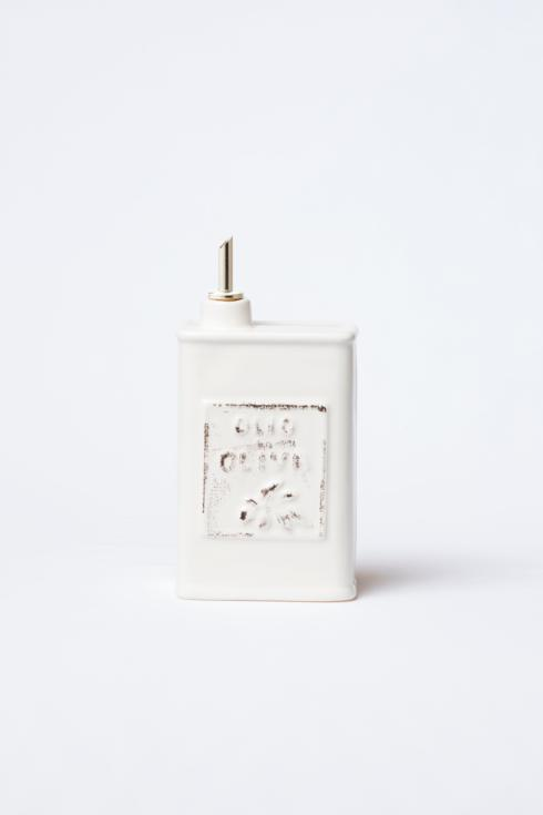 $54.00 Linen Olive Oil Can