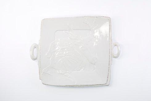 Vietri Lastra Holiday Handled Square Platter $139.00