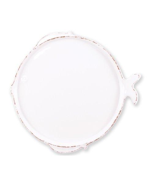 Vietri Melamine Melamine Lastra Fish White Dinner Plate $24.00