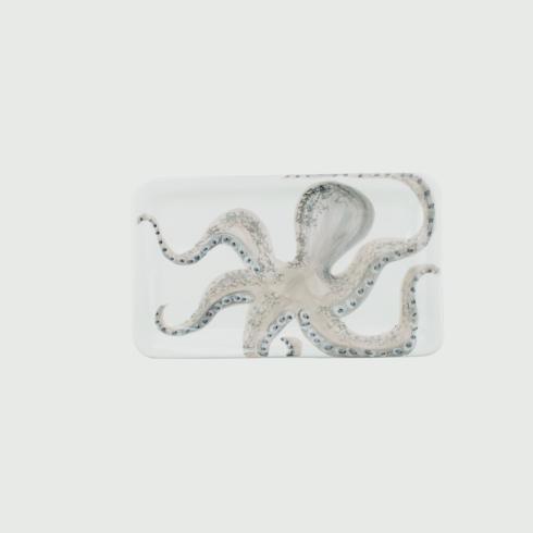 Vietri  Marina Marina Octopus Rectangular Platter $110.00