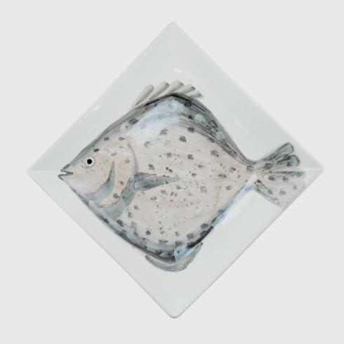 Vietri  Marina Marina Flounder Square Platter $212.00