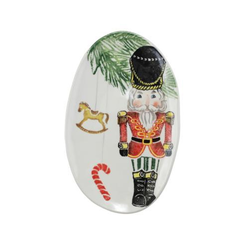 VIETRI  Nutcrackers Small Oval Platter $75.00