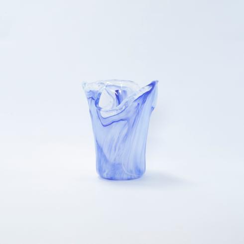 VIETRI  Onda Glass Cobalt Small Vase $40.00