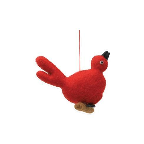 $12.00 Felt Red Bird Ornament