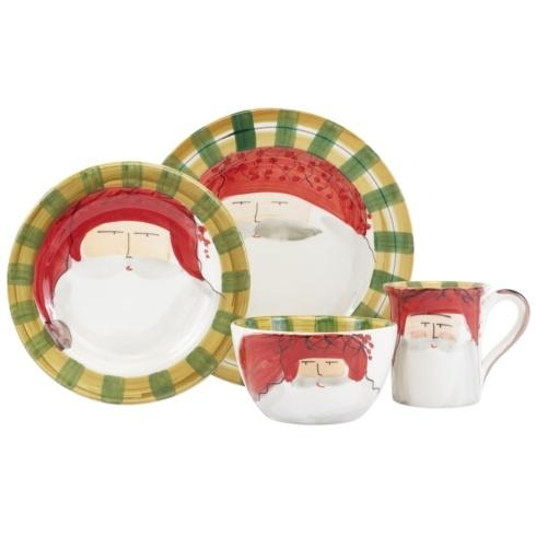 $198.00 Red Hat Four-Piece Place Setting