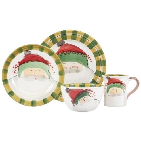 $198.00 Green Hat Four-Piece Place Setting
