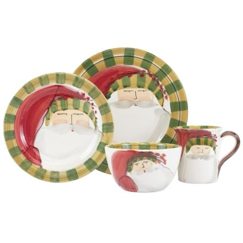$198.00 Striped Hat Four-Piece Place Setting