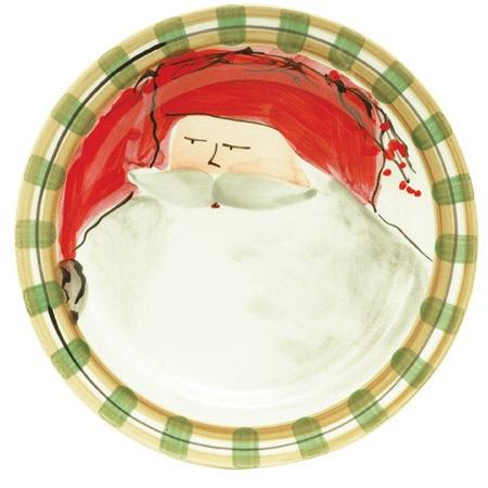Vietri  Old St. Nick Dinner Plate - Red $58.00