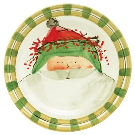 Vietri  Old St. Nick Dinner Plate - Green $58.00